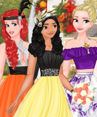 Three Bridesmaids for Cinderella Dress Up Game