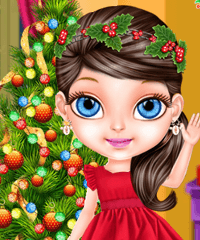 Baby Barbie Christmas Magic Game