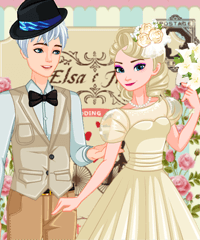 Elsa Retro Wedding Dress Up Game