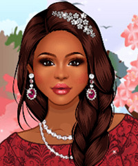 Lady in Lace Dress Up Game