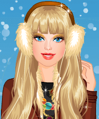 Barbie Winter Fashionista Dress Up Game