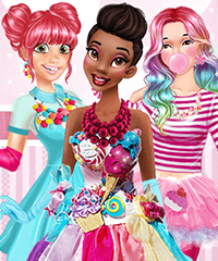 Sweet Party with Princesses Dress Up Game