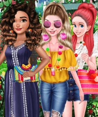 Princess Pom Pom Fashion Dress Up Game