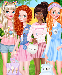 Princess Cuteness Overload Dress Up Game