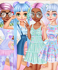 Princesses Kawaii Looks and Manicure Game