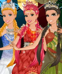 Barbie Princess of Elements Dress Up Game