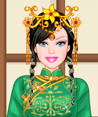 Barbie Chinese Clothes Dress Up Game