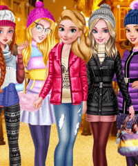 Princess Puffer Jacket Dress Up Game