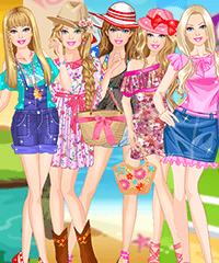 Barbie Summer Styles Dress Up Game