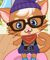 Hipster Kitty Dress Up Game