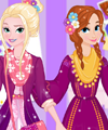 Elsa and Anna Spring Trends Dress Up Game