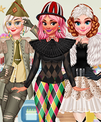 Princesses Carnival Party Dress Up Game