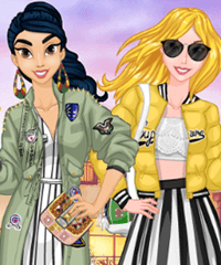 Princesses Spring Trends Dress Up Game