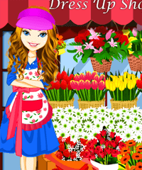 Flower Shop Design and Dress Up Game