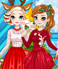 Frozen Sisters Christmas Party