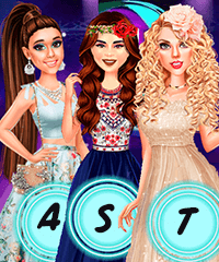 Ariana, Taylor and Selena at Teen Choice Awards Dress Up Game