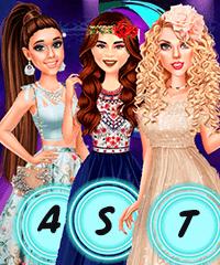 Ariana, Taylor and Selena at Teen Choice Awards Dress Up Game