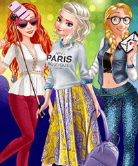 Princess First College Party Dress Up Game