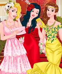 Princesses at Met Gala Ball Dress Up Game