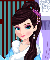 Elsa Time Travel China Dress Up Game