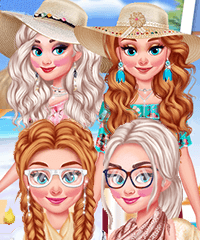 Frozen Sisters Beach vs College Dress Up Game