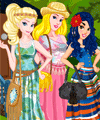 Princess Team Bohemian Dress Up Game