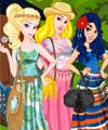 Princess Team Bohemian Dress Up Game
