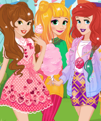 Princess Spring Funfair Dress Up Game