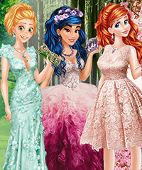 Colors of Spring Princess Gowns Dress Up Game